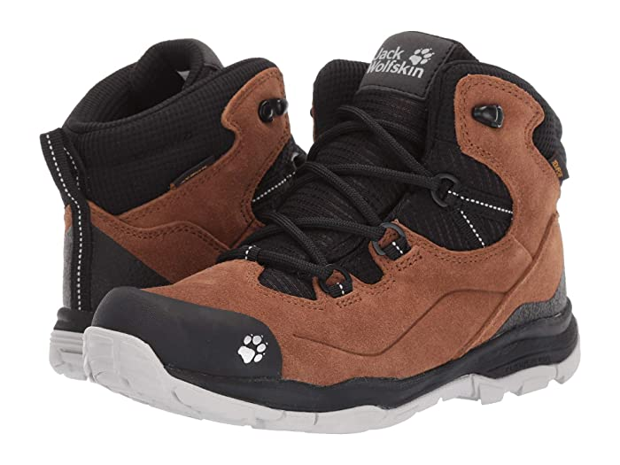 Jack Wolfskin Kids  Mountain Attack 3 LT Texapore Mid (Toddler/Little Kid/Big Kid) (Desert Brown/Black) Boys Shoes
