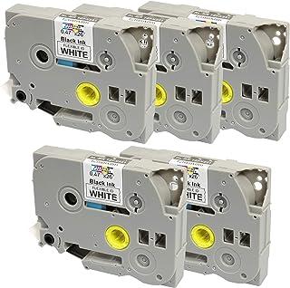 Compatibile Cassette TZe-C41 TZ-C41 nero su giallo fluorescente 18mm x 8m Nastro laminato per Brother P-Touch PT-2030VP 2430PC 3600 9600 D400 D600VP E300VP E550WVP H300 H500 P700 P750W Etichettatrici
