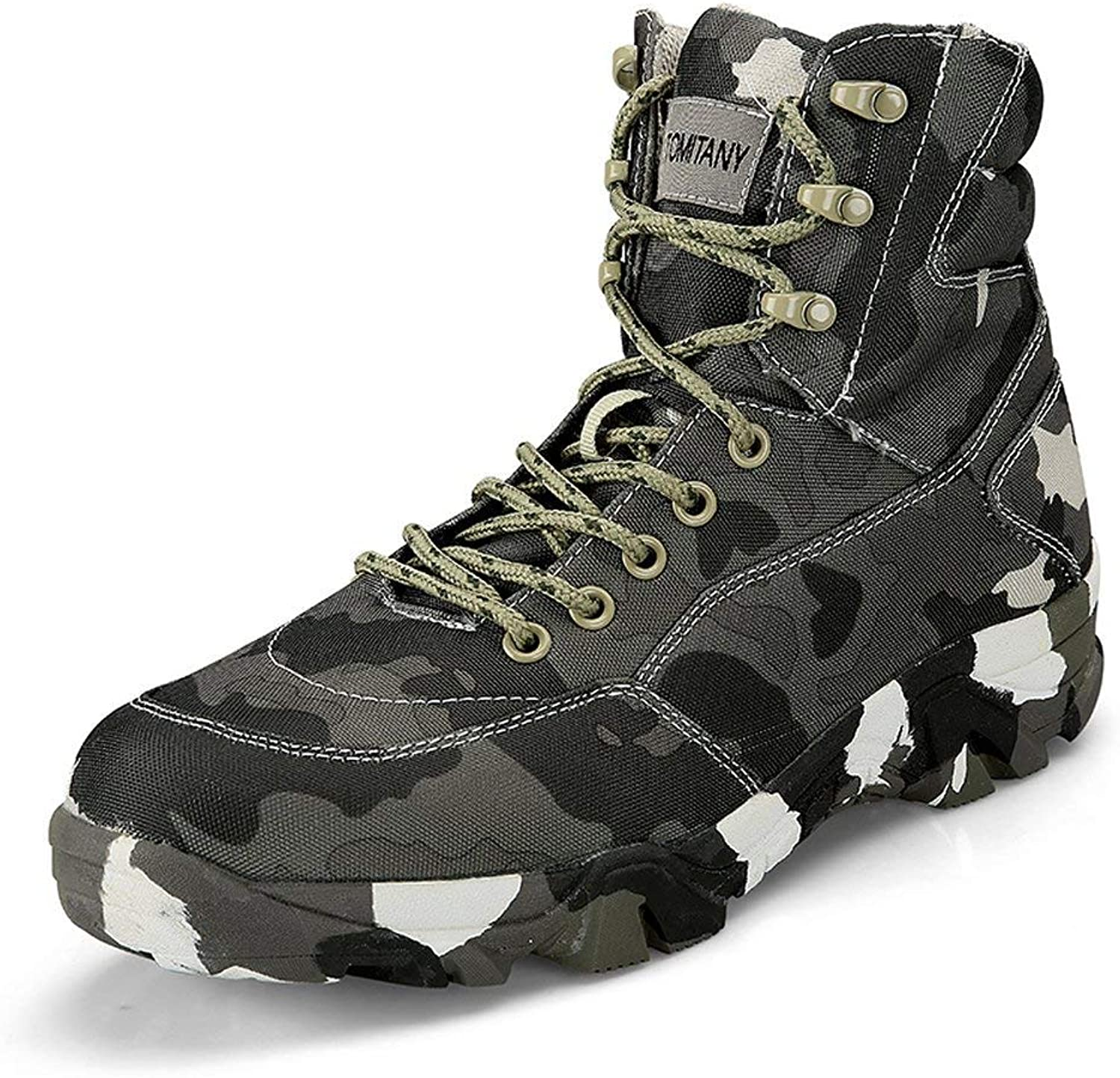 LiliChan Men's Lightweight Waterproof and Non-Slip Outdoors Hiking Boots Camouflage Military Boots