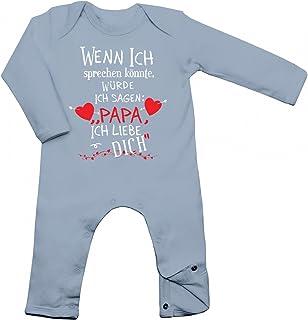 """Shirt Happenz Wenn ich sprechen könnte, würde ich Sagen """"Papa ich Liebe Dich"""" Babybody Geburt Langarm Langärmliger Strampler"""