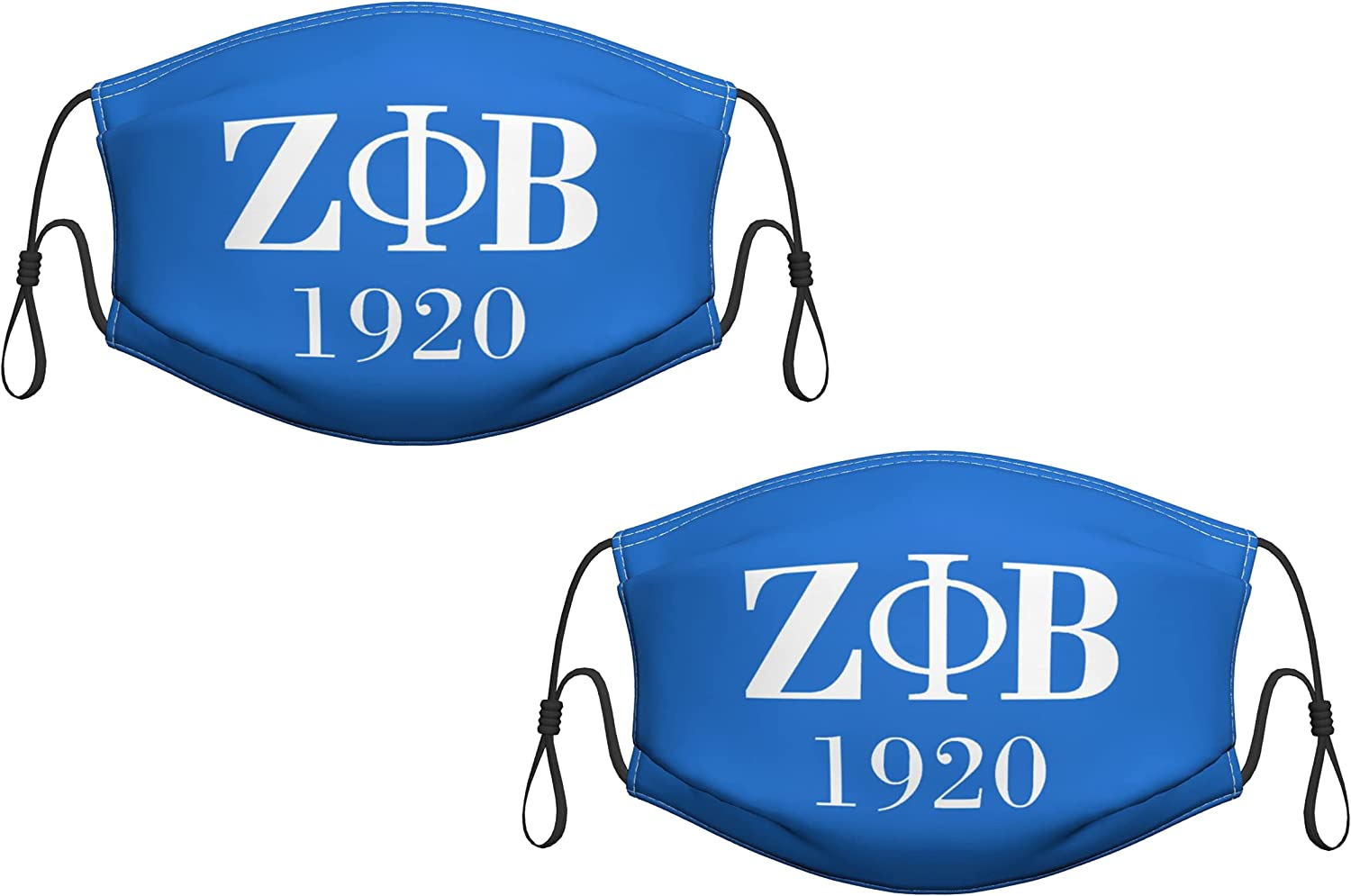 2 PCS Sorority Face Mask for Men and Women Breathable Reusable Mouth Mask Protections