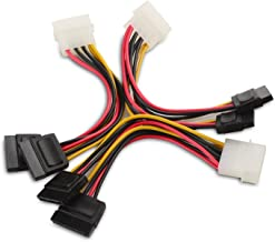 Cable Matters 3-Pack 4 Pin Molex to Dual SATA Power Y-Cable Adapter- 6 Inches