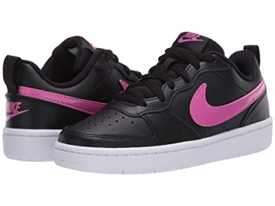 Nike Kids Court Borough Low 2 (Big Kid) (Black/Active Fuchsia/White) Boys Shoes