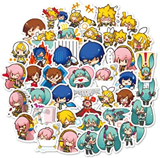 Anime Girls Hatsune Miku 40 Piece Themed Sticker Decal Set for Kids Adults - Laptop Motorcycle Skateboard Decals