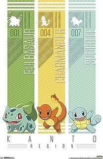 Trends International Pokémon - Kanto Trio Wall Poster, 22.375