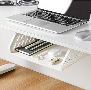 Under Desk Drawer, GGIANTGO Desk Organizer, Set for Office/Bedroom/School/Kitchen, Self-Adhesive Under Desk Storage for Ph...