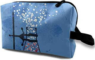 LEIJGS Chemistry Experiment Small Travel Toiletry Bag Super Light Toiletry Organizer for Overnight Trip Bag