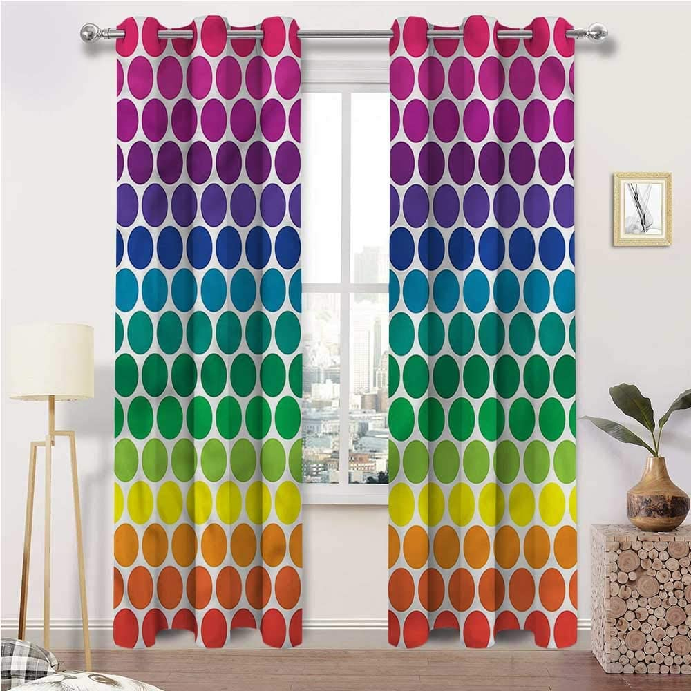Kids Blackout Curtains Phoenix Mall Polka Dots Thermal Excellence Insulated Grommet Bla