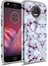 Moto Z2 Play Case, Moto Z Play (2nd Gen.) Case, Rosebono Hybrid Dual Layer Shockproof Hard Cover Graphic Fashion Cute Colorful Silicone Skin Case for Moto Z2 Play (Purple Marble)