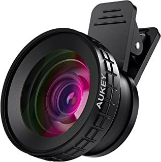 AUKEY Ora iPhone Camera Lens, 0.45x 140° Wide-Angle + 10x Macro Clip-On iPhone Lens for..