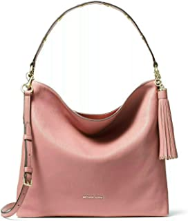 504c3408d3ba MICHAEL Michael Kors Brooklyn Large Pebbled Leather Shoulder Bag in Rose