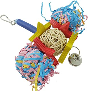 Sanwooden Funny Bird Foraging Toy Cute Foraging Bird Parrot Shredder Cage Toys for Cockatiel African Grey Conure Pet Supplies