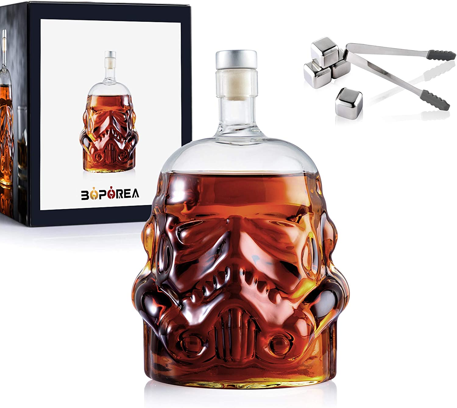 Transparent Creative Whiskey Flask Carafe Stainl New arrival with wholesale 4 Decanter