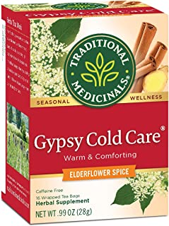 Traditional Medicinals Gypsy Cold Care Seasonal Tea, 16 Tea Bags (Pack of 6)