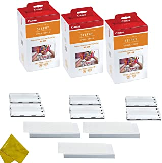 3 Pack Canon KP-108IN sheets for Canon Selphy CP910 324 Color Ink Paper