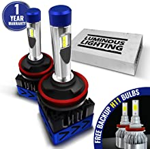AccCITY MAX CSP LED Headlight Bulbs All-in-One Conversion Kit FREE BACKUP BULBS - H11 (H8, H9) -9,000Lm 6000K Cool White CREE