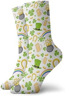 ames, Día de San Patricio Irlanda Sombrero de cerveza Rainbow Hombres y mujeres Moda Novedad linda Divertida Casual Art Crew Calcetines