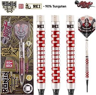 Shot! Darts Ronin Rei-Soft Tip Dart Set Center Weighted-90% Tungsten Barrels