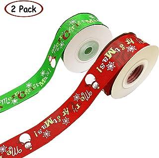 Embalaje de Regalo Navidad Cajas Flores Boda Navidad HOWAF 16 Piezas Cintas de Navidad Grosgrain Cinta de Tela de sat/én para Decoraciones de Navidad