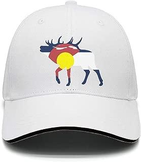 UHOMEW Adjustable Casual Sport Hat Crossbones Skull Unisex Sandwich Cap Truck Driver Hat