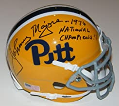 Johnny Majors Signed Autographed Auto Pittsburgh Pitt Panthers Throwback Mini Helmet w/1976 National Champions - Proof
