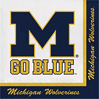 20-Count NCAA Paper Lunch Napkins, Michigan Wolverines