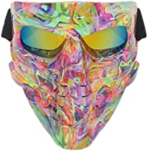 Vhccirt Paintbal Mask with Goggles Windproof Tactical Skeleton Ghost Spooky Mask for Airsoft/Motorcycle/Motorbike/Motor Racing