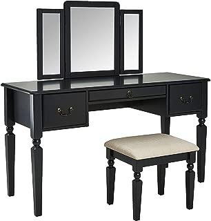 black vintage vanity
