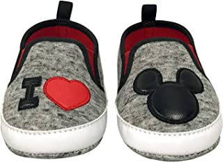 Disney Mickey Mouse and Minnie Mouse Infant Soft Sole Slip-On Shoes
