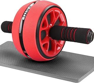 AUOPLUS 腹筋ローラー 膝マット付き 静音 一輪 アブホイール 腹筋 トレーニング器具 筋トレグッズ エクササイズローラー 体幹 ストレッチ ダイエット器具 男性/女性 初心者/上級者 アブローラー