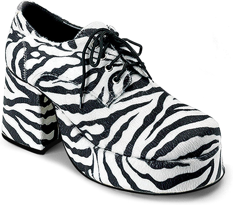 Men's Zebra Print Platform shoes