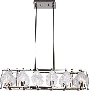 Elegant Lighting Endicott 8 Light Polished Nickel Clear Glass Chandelier