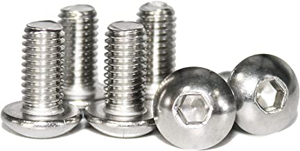 M5-0.8 x 8 mm Button Head Socket Cap Screws, Quantity 100 by Fullerkreg, Allen Socket Drive, Passivated 18-8 Stainless Steel, ISO7380, Come in a Plastic Case