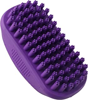 Hertzko Pet Bath & Massage Brush Great Grooming Comb for Shampooing and Massaging Dogs, Cats, Small Animals with Short or Long Hair - Soft Rubber Bristles Gently Removes Loose & Shed Fur from You