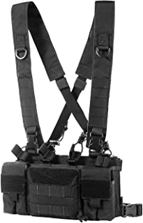 OneTigris Tactical Chest Rig with 5.56/7.62 Rifle Mag Pouches Pistol Mag Pouches and X Harness for Airsoft Shooting Wargame Paintball