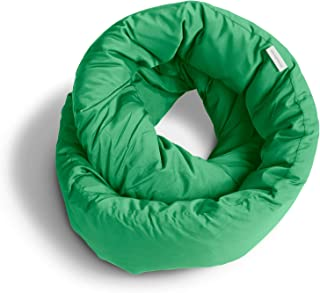 Huzi Infinity Pillow - Versatile Soft Neck Support Scarf Travel Pillow for Sleep in Flight, Airplane (Shamrock)