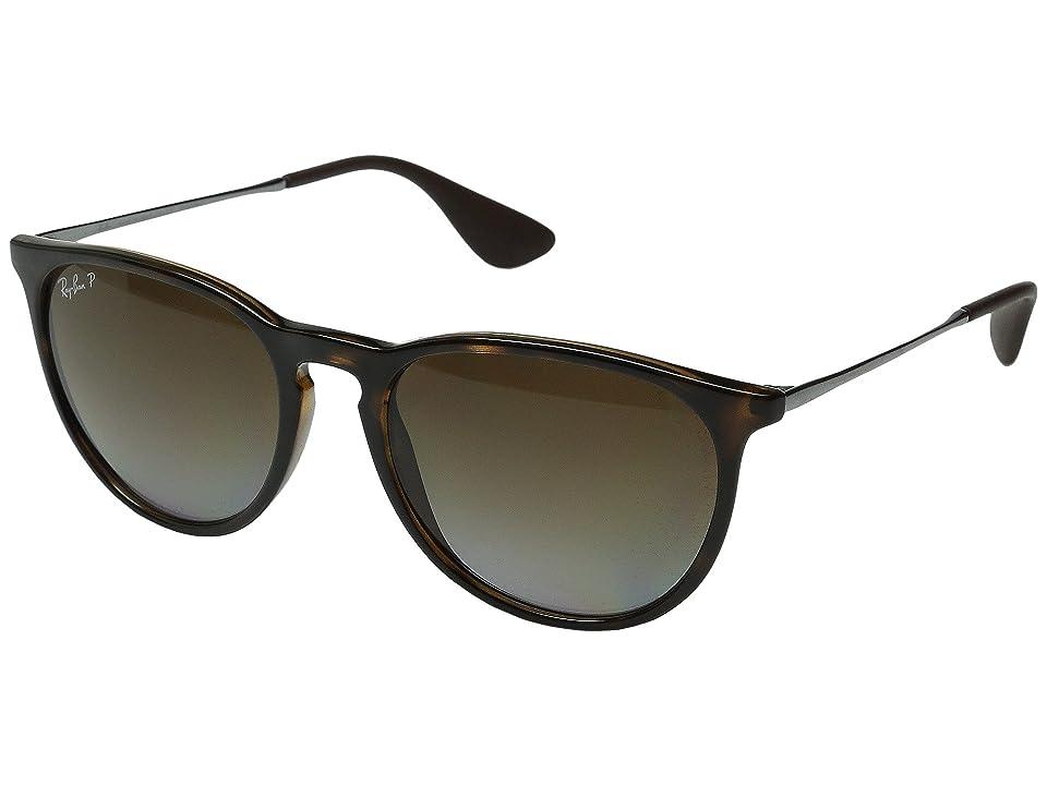 Ray-Ban Erika RB4171 Polarized (Havanna/Gunmetal/Brown Gradient) Plastic Frame Fashion Sunglasses