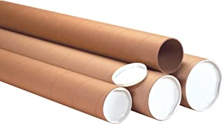 Heavy-Duty Mailing Tubes with Caps, 4