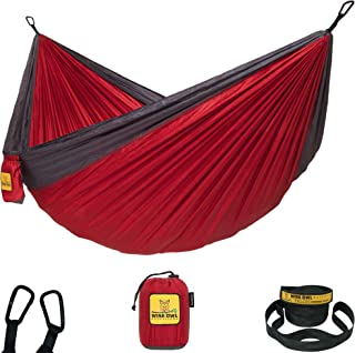 Wise Owl Outfitters Hammock Camping Double & Single with Tree Straps – USA..