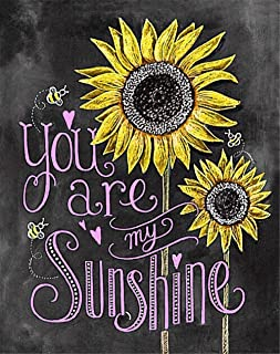 Full Drill Diamond Painting Kits - PigPigBoss You are My Sunshine Sunflower Diamond Dotz Kits - 5D Diamond Embroidery Cross Stitch Home Decor Christmas Gift for Adult, Kids (11.8 x 15.7 inches)