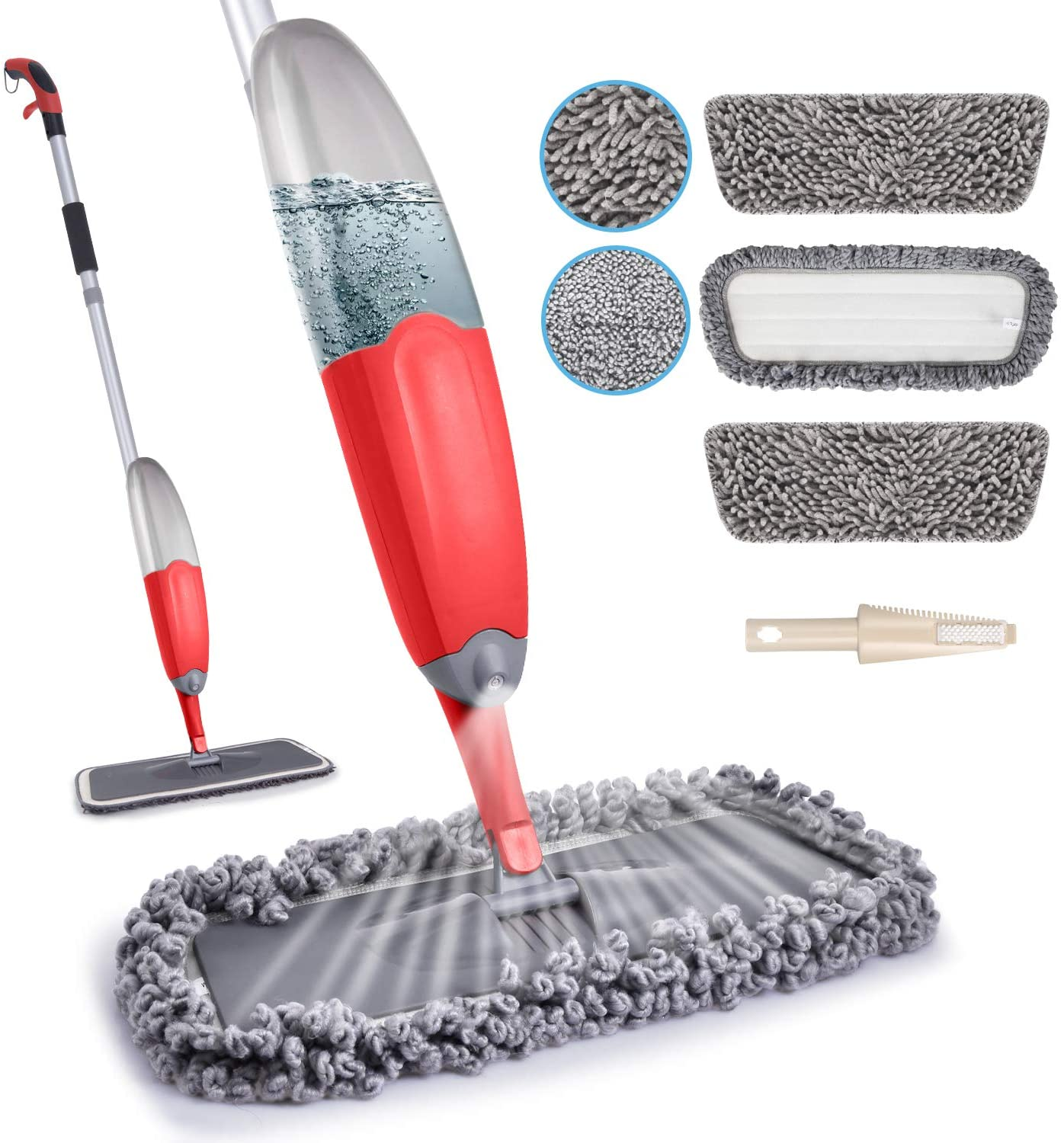 HOMTOYOU Microfiber Spray 2021 model Mop for Dry Selling Wet Cleaning Hardwo Floor