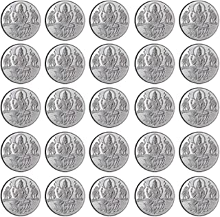 Goddess Laxmi Coin In Pure 999 Silver 10 Grams Set Of 100 Religious Coins