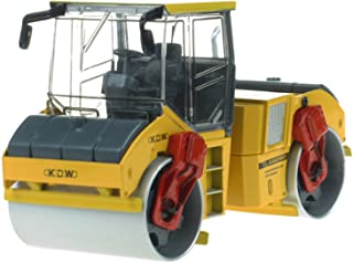 Happy Cherry Scale 1:35 Alloy Tandem Compactor Diecast Asphalt Drum Compactor - Yellow