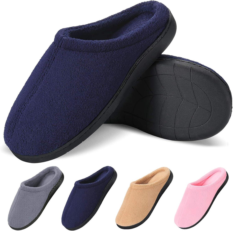 Roadbox kvinnor House skor Warm Slippers Cotton Cotton Cotton Home skor Comfortable Fleece Memory Foam Plush Lining Slip -on Wool -Like House skor inomhus  outlet butik