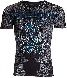 Affliction Xtreme Couture Short Sleeve T-Shirt Mens Sandstone Black