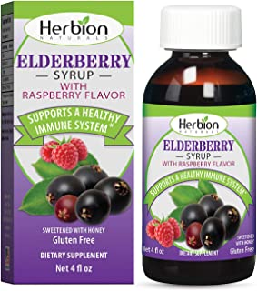 Herbion Naturals Elderberry Syrup 4 Fl Oz – Healthy Immune System for Adults & Children (1 Year+) - Honey sweetened with N...