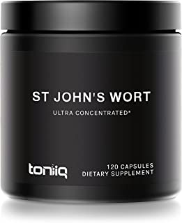 1,000mg Ultra High Strength St. John's Wort Capsules (Non-GMO) - 7X Concentrated Extract - 0.3% Hypericin - Highly Purifie...