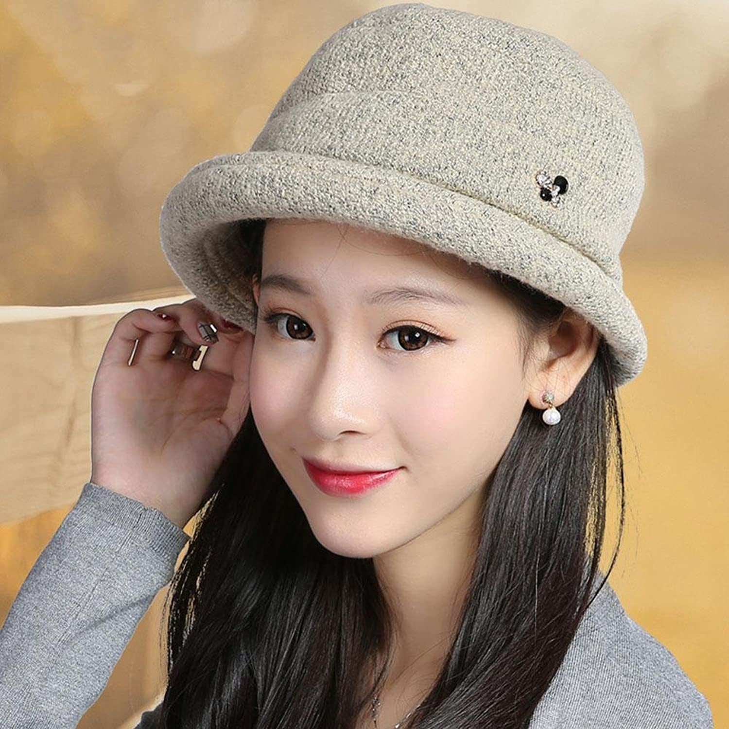 XUEXIN Hat, woman autumn and winter warm wool cap hat cap