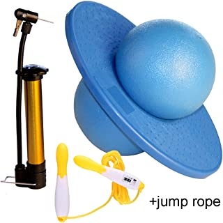 GreenMoon Pogo Ball with Large Pump Lolo Ball with Gift Bag and Instruction(with Jump Rope)