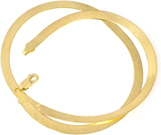 14k Yellow Gold Imperial Herringbone Necklace or Bracelet